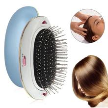 Electric Negative Ionic Hairbrush Takeout Mini Ion Hair Brush Comb Massage Ionic Electric Hairbrush все цены