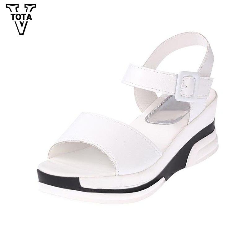 3bb3a8875f3e32 Gladiateur Plate Femmes Noir Bout forme En D'été blanc Ouvert Mode Casual Cuir  Chaussures À Bagatelle Souple Sandales ...