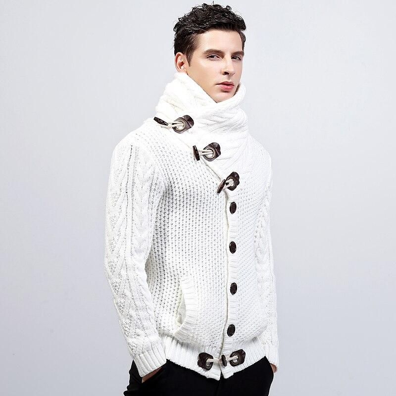 Loldeal 2018 hombres marca de moda de punto Cardigan