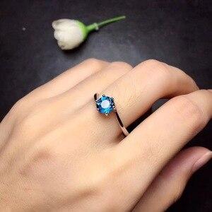 Кольцо с натуральным топазом, простой и стильный, красивые цвета, тонкая работа, стерлингового серебра 925 пробы,