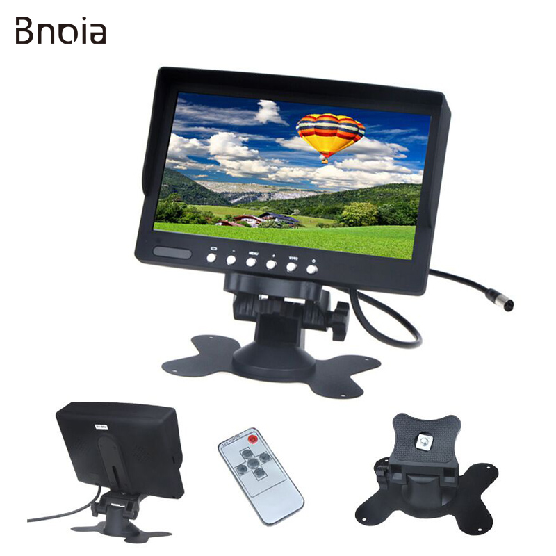 Car Monitor 2 AV Input  7 Inch HD TFT LCD Car Sunscreen Rear View Reverse Monitor  for Vehicle Reversing Camera DC 12V-24V C009M car monitor 2 av input 7 inch hd tft lcd car sunscreen rear view reverse monitor for vehicle reversing camera dc 12v 24v