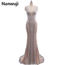 Nanwuji Real PhotoLuxury Grey Mermaid Evening Dresses