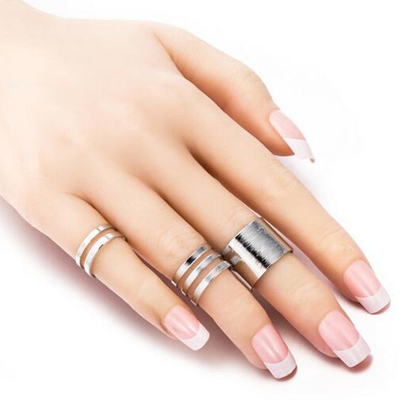 Women's Minimalistic Phalanx Rings 3 pcs Set Jewelry Rings Women Jewelry