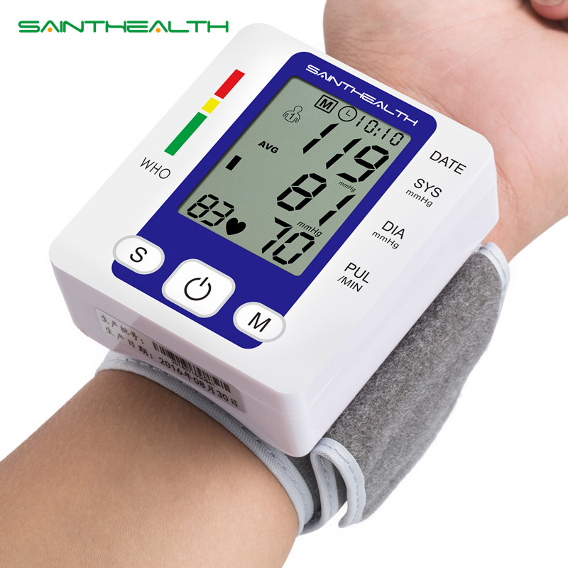 Electric Wrist Blood Pressure Monitor Portable tonometer health care bp Digital Blood Pressure Monitor meters sphygmomanometer home use blood pressure monitor health care heart monitor arm blood pressure monitor sphygmomanometer nonvoice