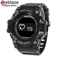 Новый zeblaze мышцы HR спортивные SmartWatch 5ATM Водонепроницаемый Носимых устройств сердечного ритма Мониторы Bluetooth Смарт часы для Android IOS