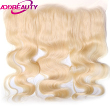 AddBeauty Body Wave Brailian Remy Hair 13*4 Lace Frontal 130% Density Pre Plucked With Baby Hair For Hair Salon