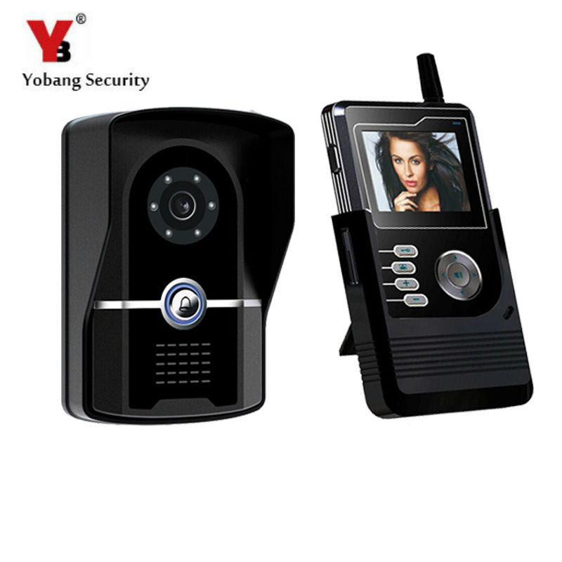 YobangSecurity 2.4G 2.4TFT Wireless Video Door Phone Doorbell Home Security Intercom With Recording function 1 Monitor 1 Camera aidocrystal newest biling floral crystal around women high heel pumps wedding shoes and bags