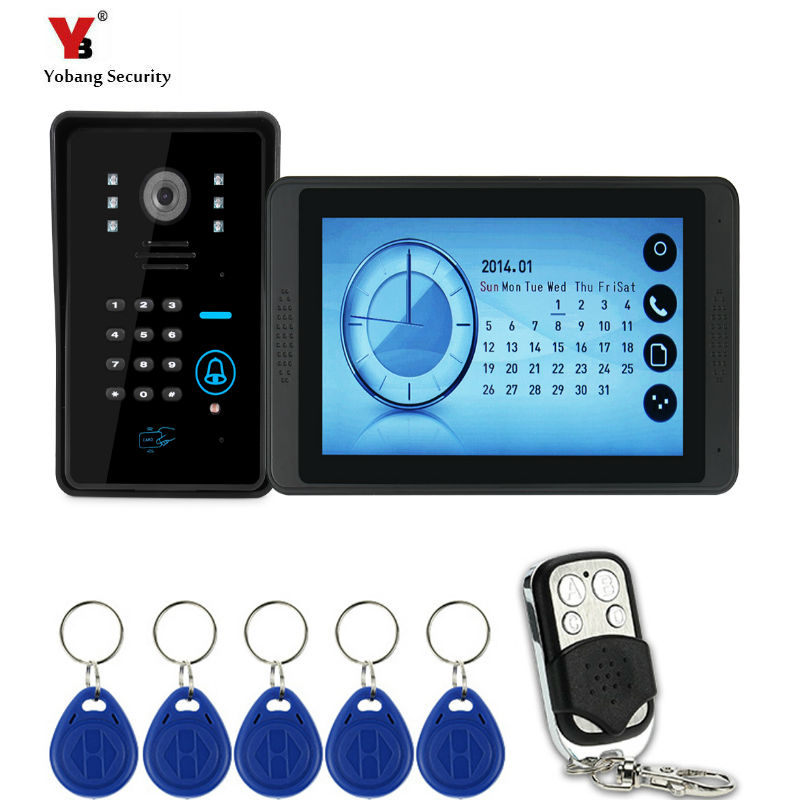 Yobang Security Video Doorphone Handsfree Night Vision Door Camera Bell Color Touch Monitor 7 inch Louder Speaker Video IntercoYobang Security Video Doorphone Handsfree Night Vision Door Camera Bell Color Touch Monitor 7 inch Louder Speaker Video Interco
