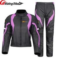 Women Jacket Sets Motorcycle Jacket Winter Suit Pants Full Season Waterproof Reflective Moto Racing Coat Protective Guard Sets