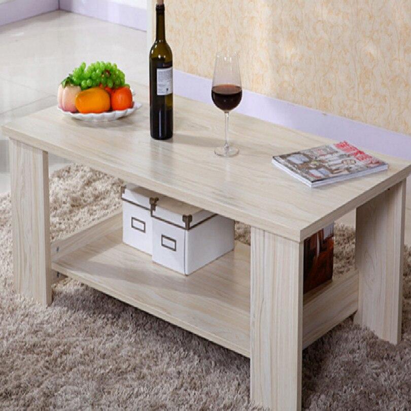Table basse carrée ovale de 80*40CM pour la table de chevet de table basse latérale de salon - 5