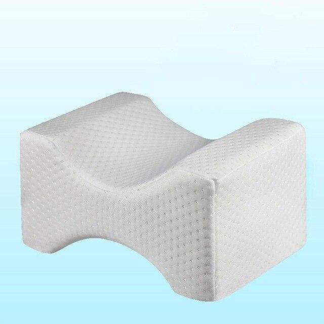 Подушка из пены с эффектом памяти, подушка для ног, подушка для тела, подушка для тела, подушка для путешествий под коленом, приспособление для сна, радикулит, боль в спине, поддержка 5 - Цвет: Белый