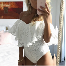 Women Sexy Off Shoulder Lace Blouse Jumpsuit Top Lady Summer Strapless Blusa Shirt Female Lace Blouse Nightclub Sexy Blouse