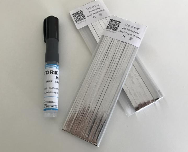 ALLMEJORES Solar Cell Solder Ribbion 10m tabbing wire+2m Bus wire+1pcs Flux penfor Diy solar panel.welding strip Free shipping