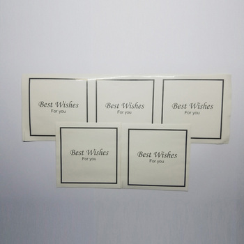 1000 Pcs 9x9cm packaging sealing stickers wedding Gilding best wishes kraft sealing sticker gift wrapping home party custom