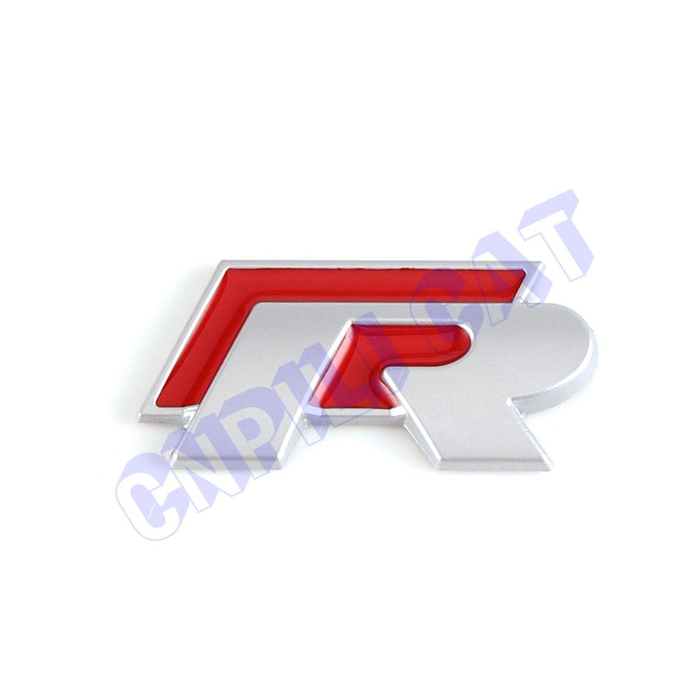 Logo honda rouge - Rouge 3d R Logo De Voiture Corps Arri Re Mat Embl Me Autocollant Pour Vw Golf Mk4 Polo