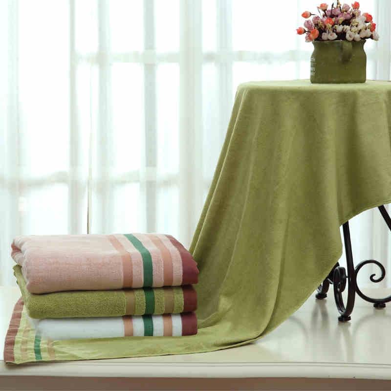 Serviette De Bain De voyage bambou séchage 100% Fiber ensemble Drap De Bain hôtel fournitures refroidissement à sec serviettes en microfibre pour le Bain QQC354