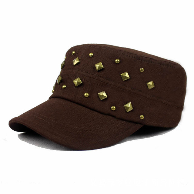 O Mode Musim Panas Klasik Vintage Polos Topi Tentara Yang Dapat ... a90b8f9638