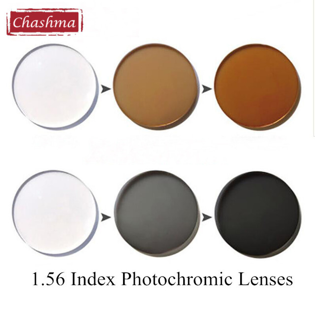 Chashma 1.56 Index Photochromic Glass Anti Reflective Chameleon UV Lenses Anti Scratch Transition Lenses