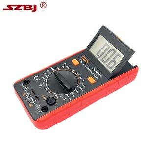 Image 2 - SZBJ medidor LCD Digital VC6243A, probador de resistencia de capacitancia, multímetro, pinza de cocodrilo, herramienta de medición con bolsa BM4070