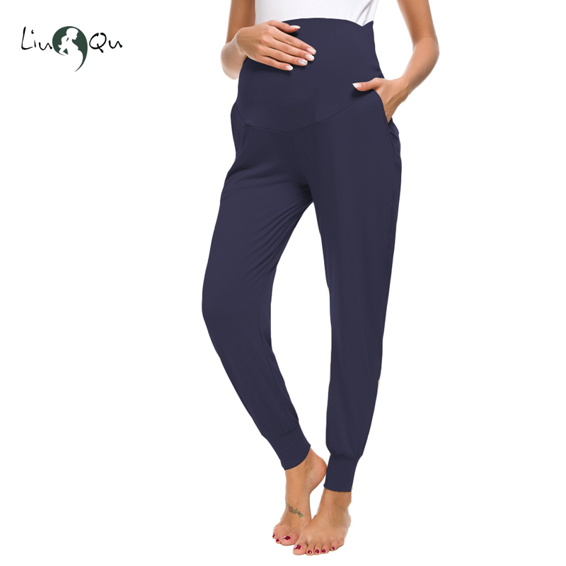 9c43dd364b012 Maternity Pants Harem Women's Maternity High Waist Fit Belly Ankle Super  Stretch Work Pant Pregnancy Pants Premama Lounge Pants-in Pants & Capris  from ...