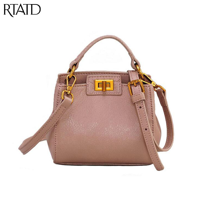 RTATD New Famous Brand Design Classic Tote Trendy Women Genuine Leather Handbags Ladies Messenger Bags For Female B273RTATD New Famous Brand Design Classic Tote Trendy Women Genuine Leather Handbags Ladies Messenger Bags For Female B273