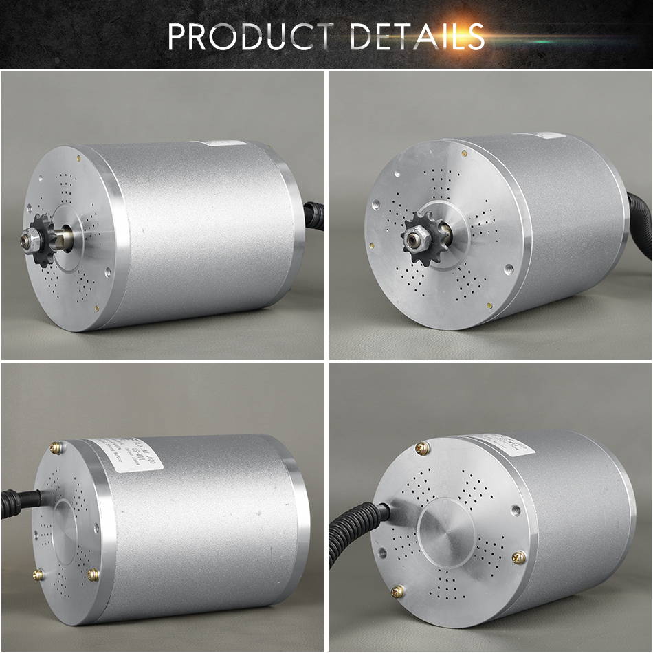 Perfect 48V 2000W Brushless DC Motor For Electric Bicycle 5400RPM E Scooter Motor Electric Bicycle Motorcycle Electric Bike Parts Rotor 2