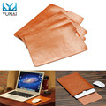 YUNAI PU Leather For MacBook Air Pro Retina 11 12 13 15inch Laptop Bag Case Sleeve Notebook Ultrabook Carry Bag Cover Pouch