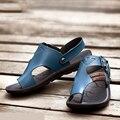 Homens sandálias de verão 2016 sandálias a tendência de dual-use sandálias chinelos sandálias de couro homens sapatos de verão 04