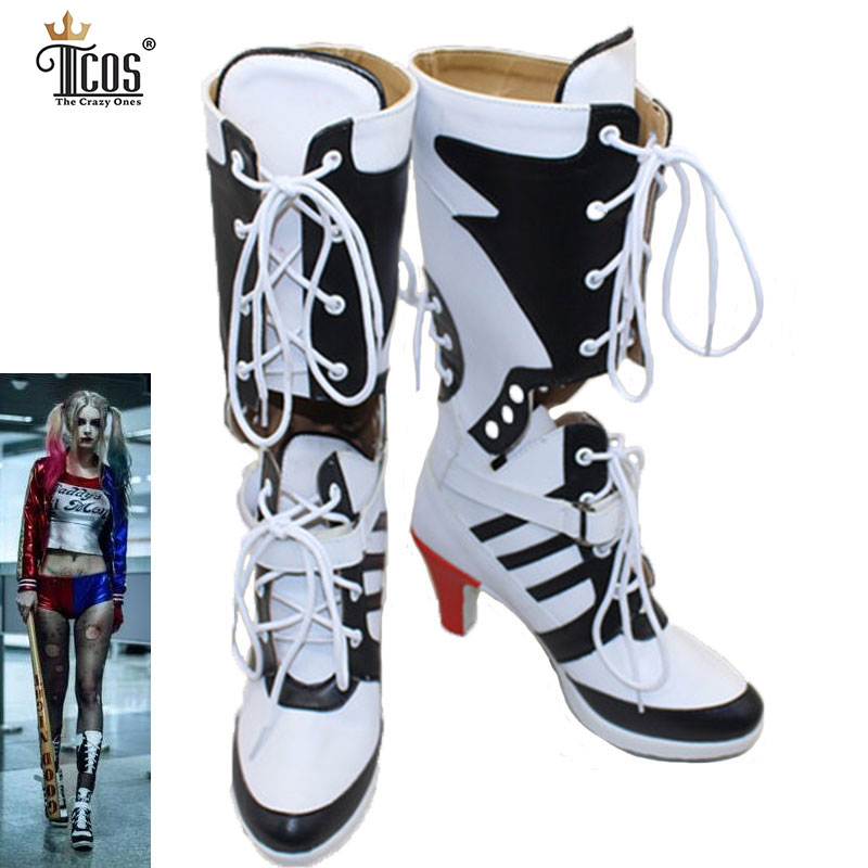 online buy wholesale harley quinn boots from china harley quinn boots wholesalers. Black Bedroom Furniture Sets. Home Design Ideas