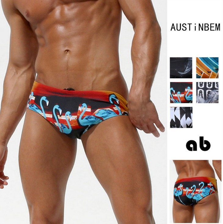 2018 new Mens swimwear low rise sexy brief man swimming briefs board shorts Swimsuit man triangular surf swim trunks