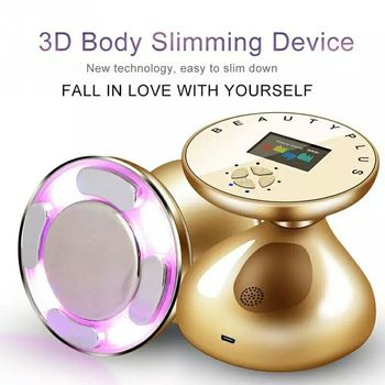 Ultrasonic RF Radio Frequency Cavitation Blue Red Led Light Photon Therapy Acne Wrinkle Remove Face Body Beauty Slimming Device