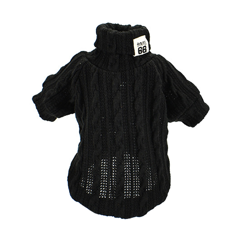 Woolen Dog Jacket in Turtleneck Design for Small Dogs as Winter Clothing 4
