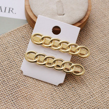 2 Pcs/lot Chain Design Gold Color Metal Hairpins For Women Fashion Hair Accessories Simple Long Barrettes Hair Clips Wholesale цены