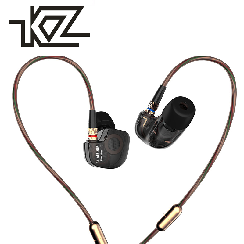 Original KZ ATE 3.5mm in ear Earphones HIFI Metal Stereo Earphone Super Bass Noise Isolating With Mic Support for iphone5 xiaomi new original kz ate in ear earphones hifi metal stereo earbuds super dj bass noise isolating headset 3 5mm drive unit earbuds