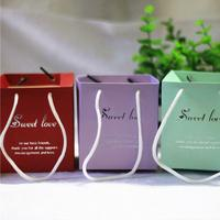 50pcs/lot Sweet Handbag Wedding Gift Candy Boxes Party Favor Gift Boxes DIY Candy Cookie Gift Boxes Wedding Party Decoration