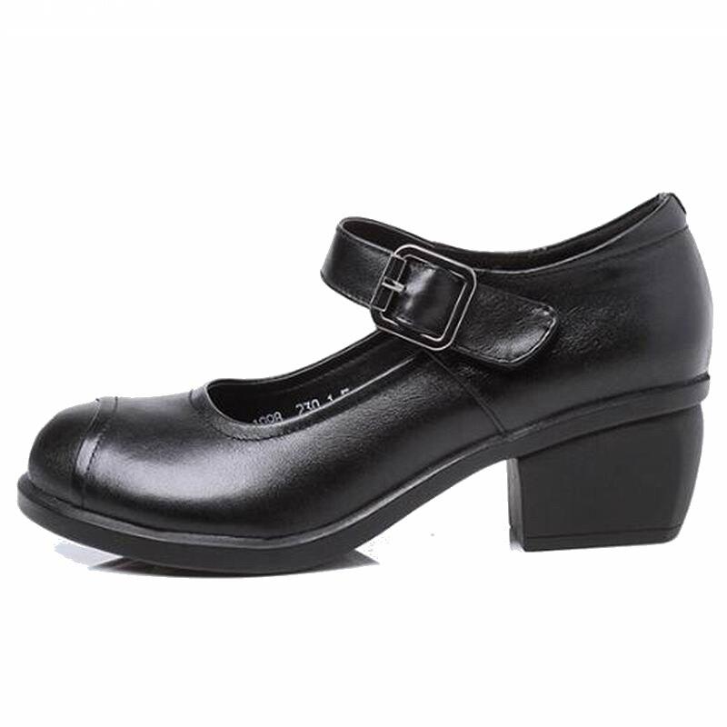 Mode T1547 Femmes gris Chaussures Haute Dames marron Rond forme Épais Printemps Doux Talons Sandales Automne Plate 2018 Nouveau Pompes Bout Pur Noir 81UxBxt