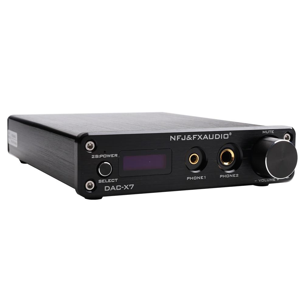 FX-AUDIO DAC-X7 XMOS AK4490EQ USB DAC Decoder HiFi Audio Headphone Amplifier DSD256 OPA2604 TPA6120 USB / optical / coaxial/AUX k guss dac k2 usb dac bluetooth 4 0 audio decoder amplifier aio fiber coax usb analog audio input tpa6120 csr8635