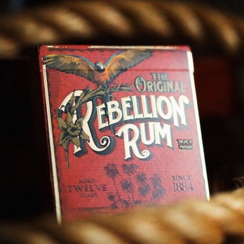 Nouveau scellé interdiction rébellion rhum ellusionniste magique carte à jouer 1 pièces accessoires magiques de haute qualité livraison gratuite