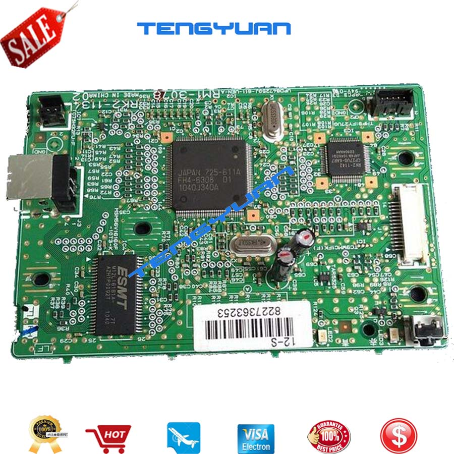 100% new original Formatter board for Canon LBP2900 LBP3000 LBP 2900 3000 RM1-3126 RM1-3078 Main board printer part on sale
