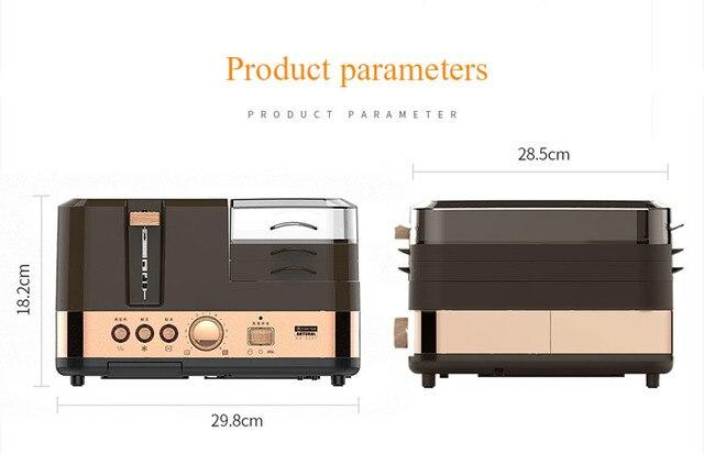 3 in 1 breakfast machine kitchen tools toast furnace automatic household multi-function breakfast toast toast machine 4