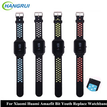 HANGRUI Silicone Strap For Xiaomi Huami Amazfit Bip BIT PACE Lite Youth Smart Watch Band for