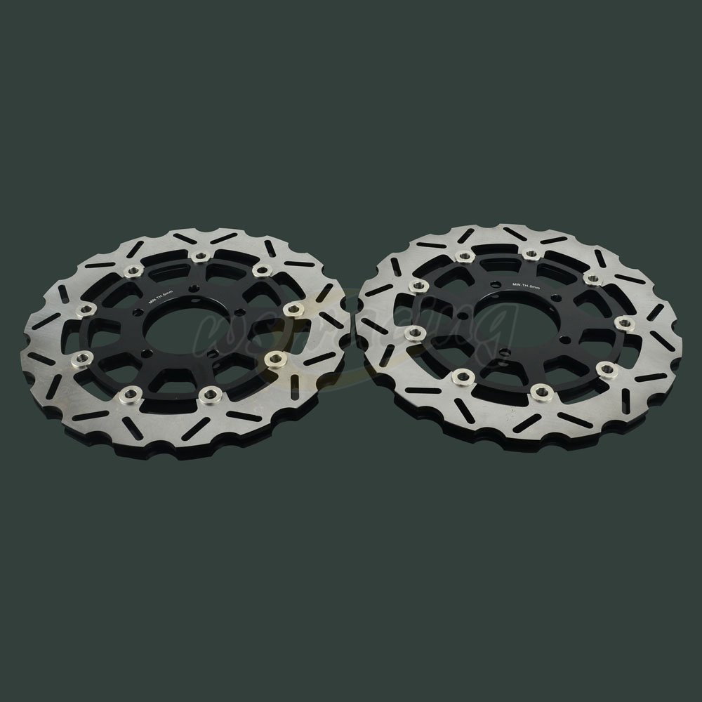 Outer Diameter 300MM Front Floating Brake Disc Rotor For KAWASAKI NINJA ZX6RR ZX6R ER6N ER6F VERSYS 650 1000 Z750 Z1000 ZX10R brand new key motorcycle replacement keys uncut for kawasaki versys 650 klr 650 c a w 650 z750 z1000 z800 er 6n er6f zr1000 zx 6