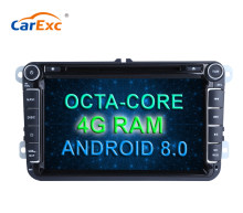 8 Inch Android 8.0 Octa Cores Car DVD Player Stereo System For VW Volkswagen POLO PASSAT Golf Multimedia Radio GPS Navigation(China)