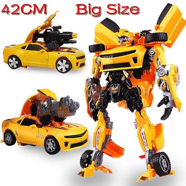 Brinquedos Caixa Original 47CM L Tamanho Transformação Brinquedos Crianças Carro Crianças Anime Figura de Ação de Classe
