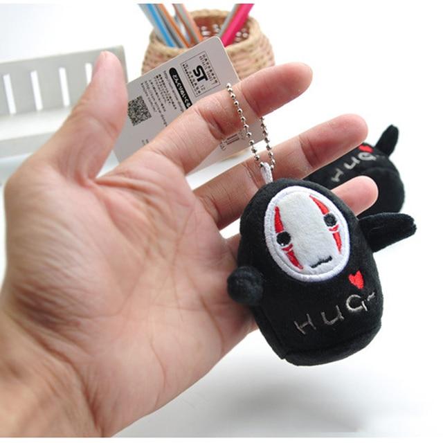 1 pcs Studio Ghibli Spirited Away No Face Man Action Figure Toy Plush Stuffed Doll Miyazaki Hayao Anime Keychain Pendant Model