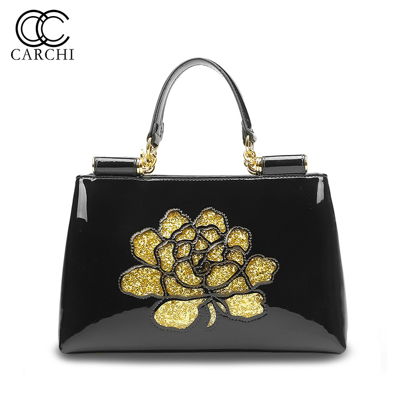 CARCHI Women Cow Leather Handbags Shoulder Bags High Quality Casual Fashion Female Bags Tote Shoulder Bag Ladies Large Bolsos genuine leather handbags women bag high quality casual female bag crocodile grain tote brand shoulder bag ladies large bolsos