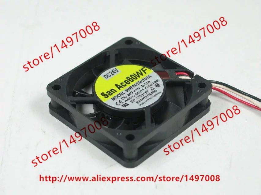 SANYO 9WF0624H707A A90L-0001-0567#B DC 24V 0.11A Server Square Fan