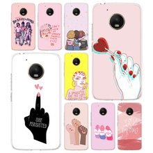 Feminist Girls TPU Phone Case For Motorola Moto G7 G6 G5S G5 E4 Plus G4 E5 Play Gift Pattern Coque Cover Shell