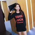 2016 Summer maternity Tees Good lucky letter print T-Shirt long sleeve Pregnant women loose clothes free shipping