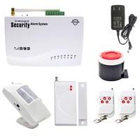 GSM Alarm System For Home Security System Wireless PIR/Door Sensor Antenna Burglar Alarm Home Alarm System Auto Dialing SMS Call